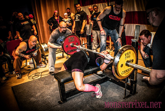 Maura Shuttleworth presses 231 pounds
