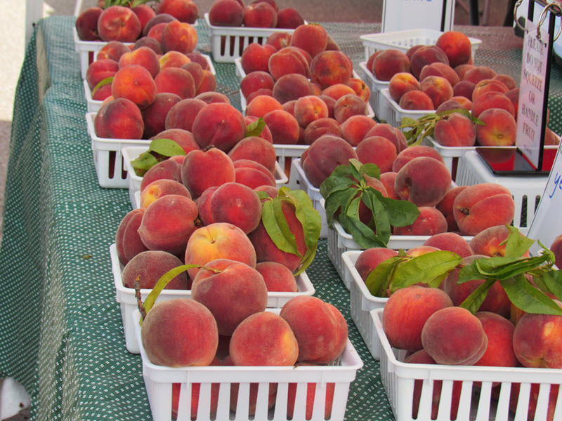 Locally-grown peaches