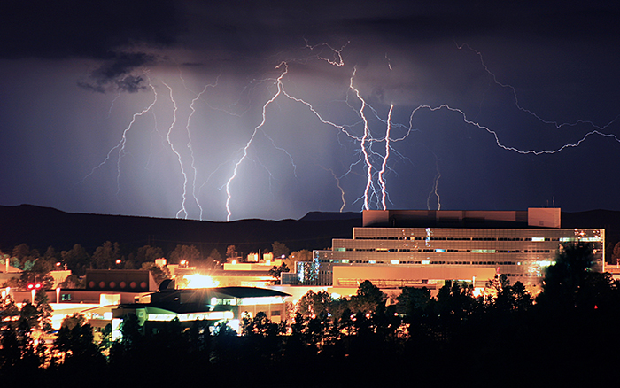 Image of lightning at the Lab