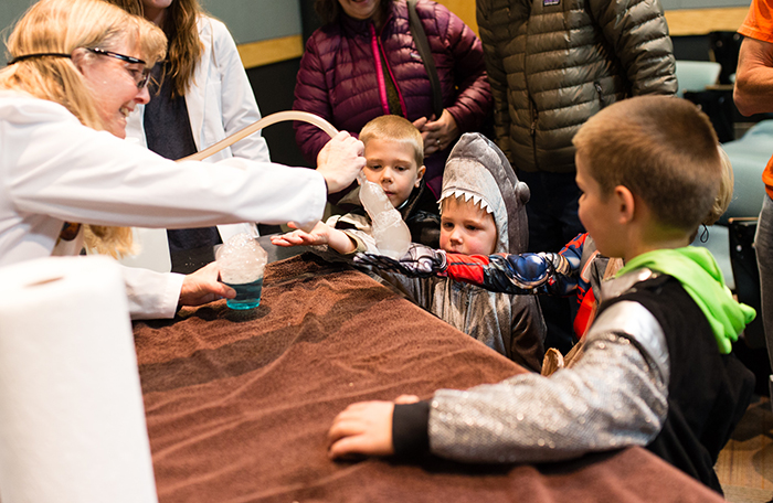 hildren and parents joined in the fun for this year's High-tech Halloween