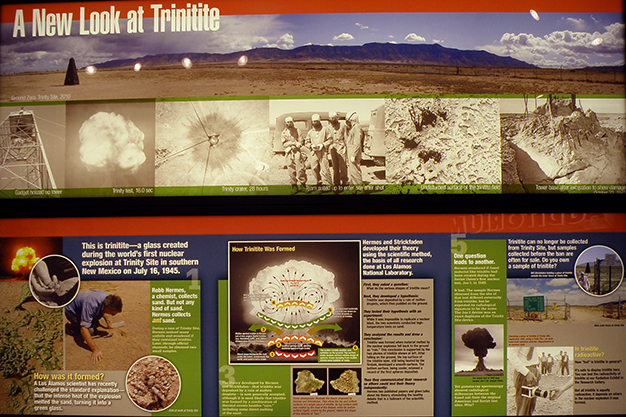 Part of our trinitite display in our History Gallery