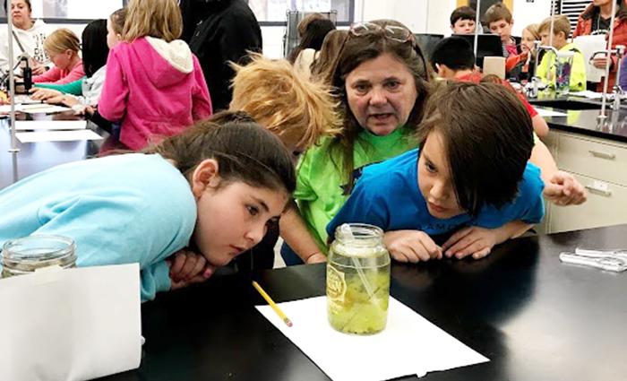 Scientist Ambassador with kids