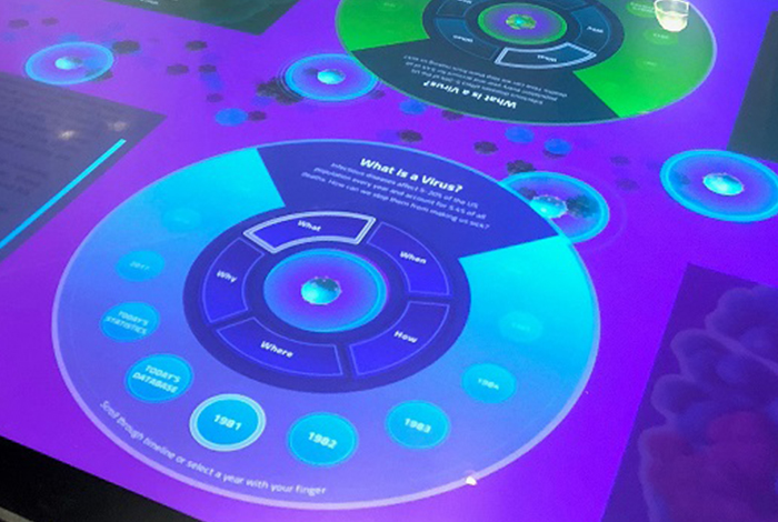 Picture of touch table.