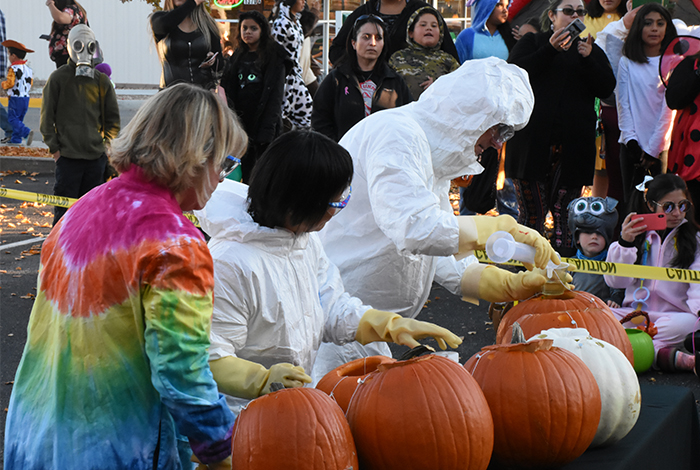 Erupting Pumpkins at High-Tech Halloween.