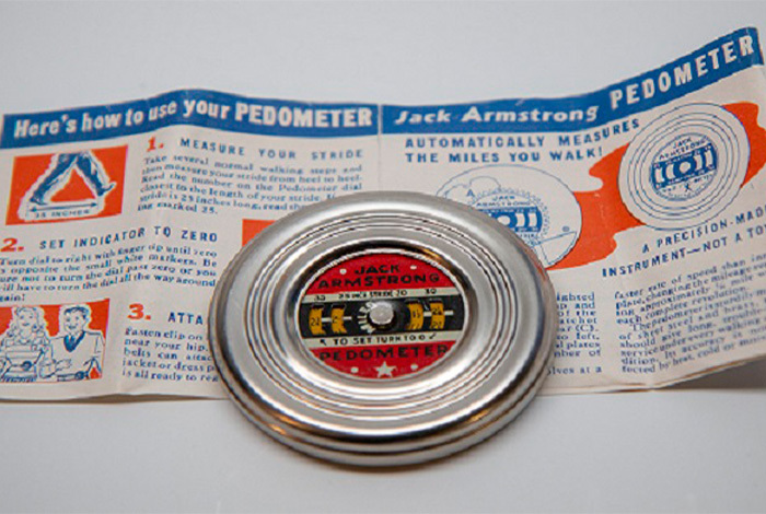 1939 Jack Armstrong pedometer.