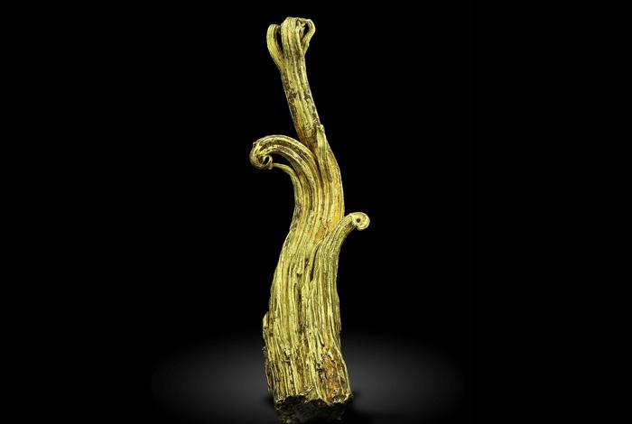 The Ram's Horn wire gold specimen.