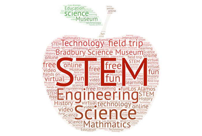 stem education themed word cloud