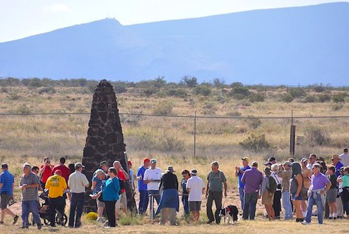 he obelisk that marks ground zero at the Trinity Site. (Photo: Wendy Brown, Fort Bliss Bugle)