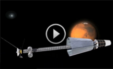 Animation of new reactor concept for deep space exploration