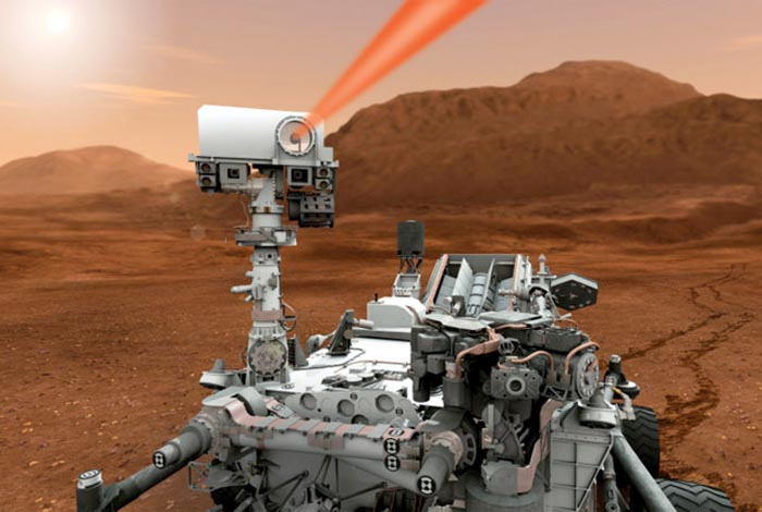 Image of ChemCam on Mars Curiosity Rover